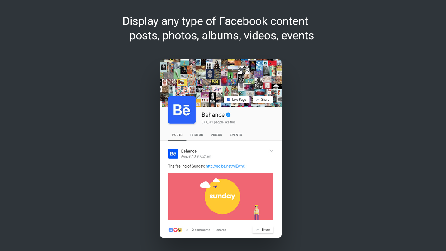 how to add facebook feed to website