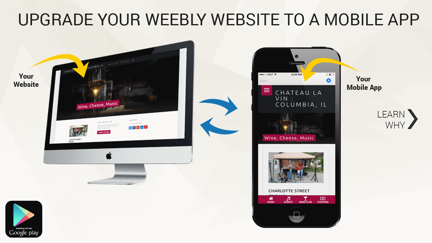 Easy web to app transform weebly site to a mobile app for Mobel website