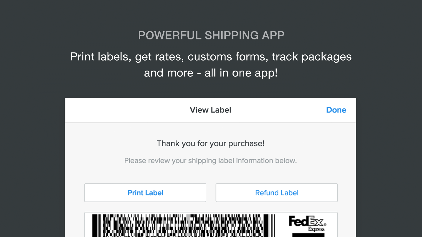 Shippo - Create discounted shipping labels fast.