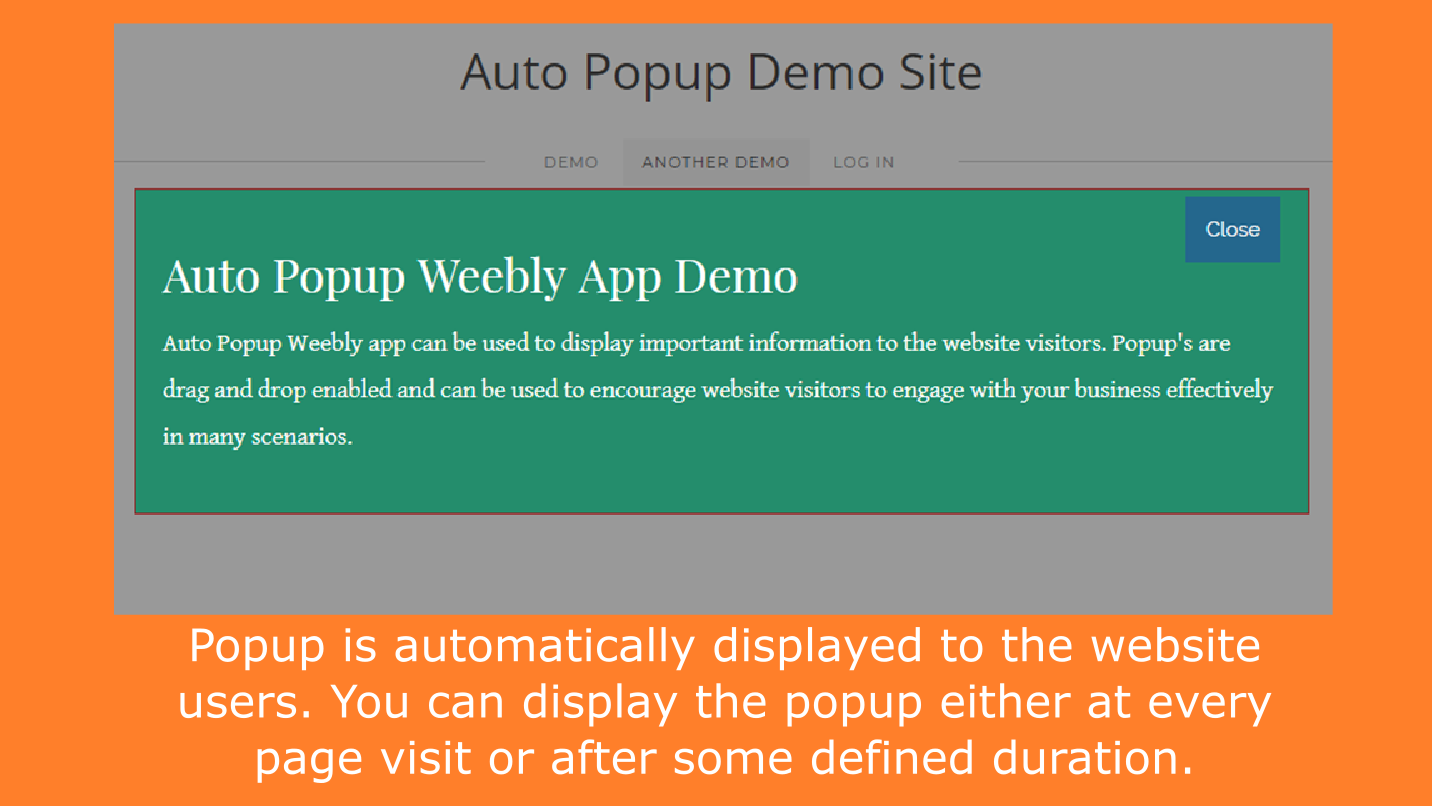 Auto Popup - Auto Display Popup at Page Load