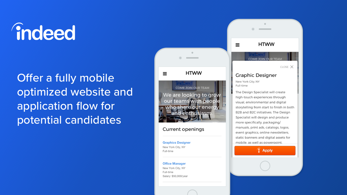 Indeed Jobs - Easily create jobs page on your website