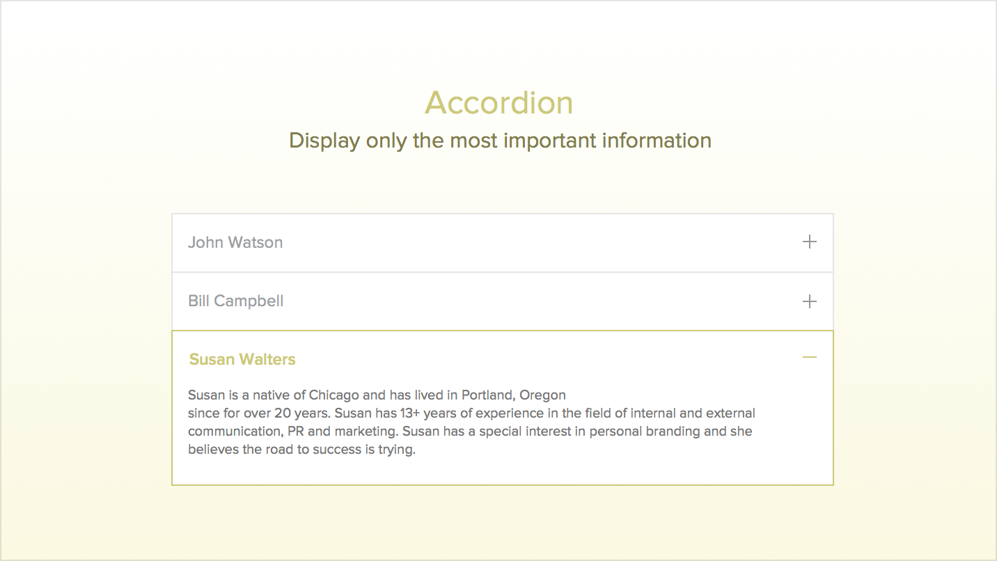 Accordion display top content on your website publicscrutiny Image collections