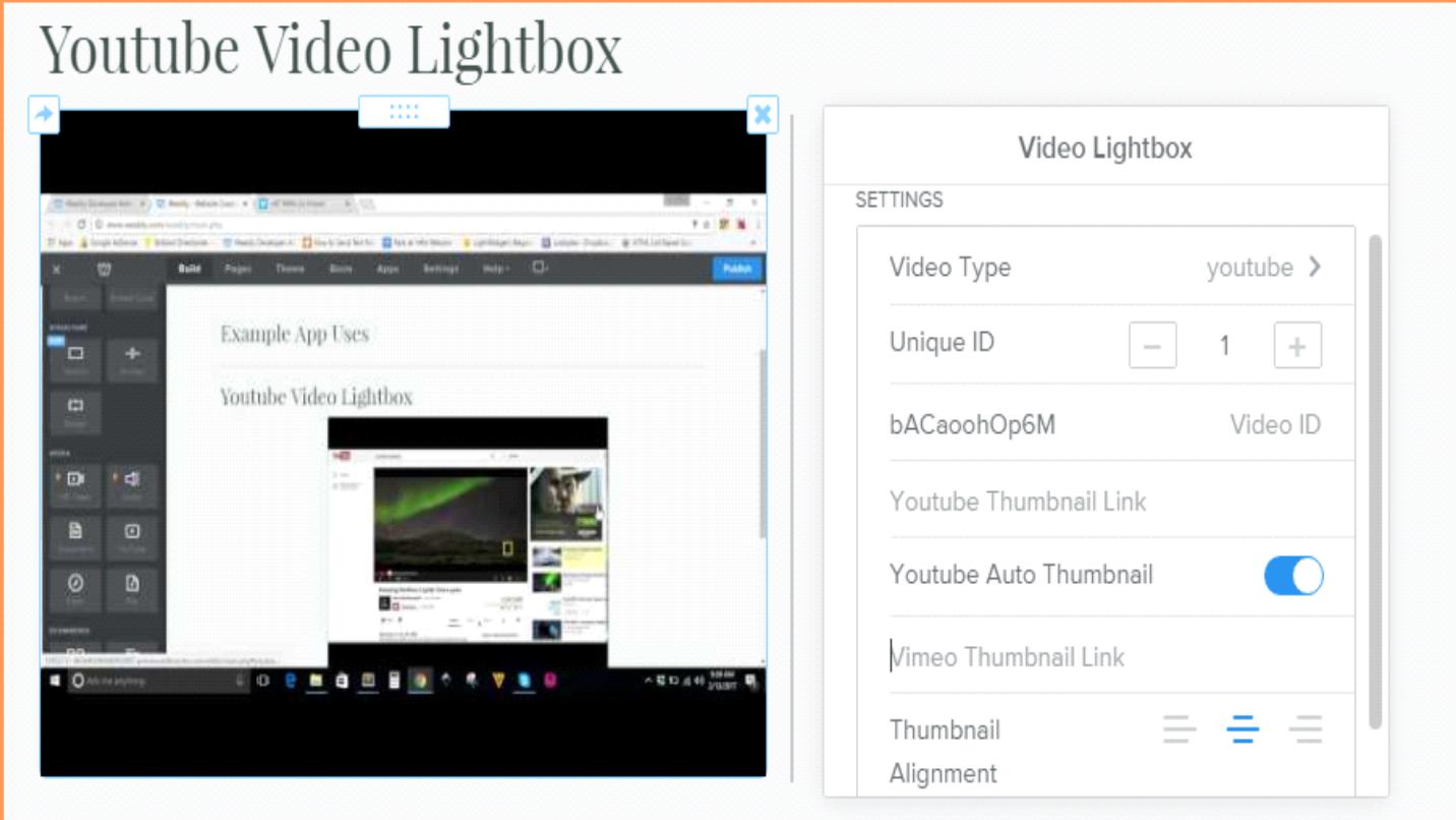 Single thumbnail lightbox