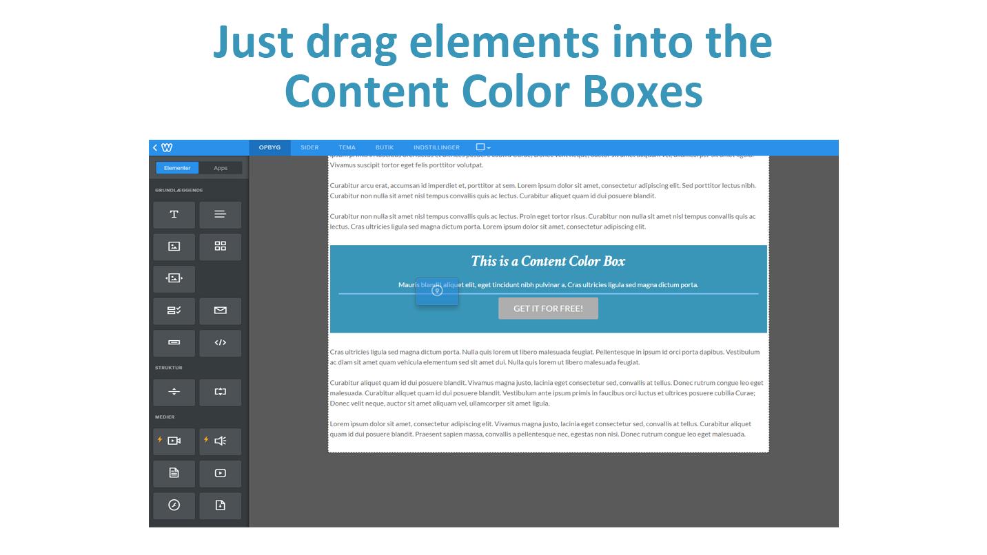 content color box create a colored content box