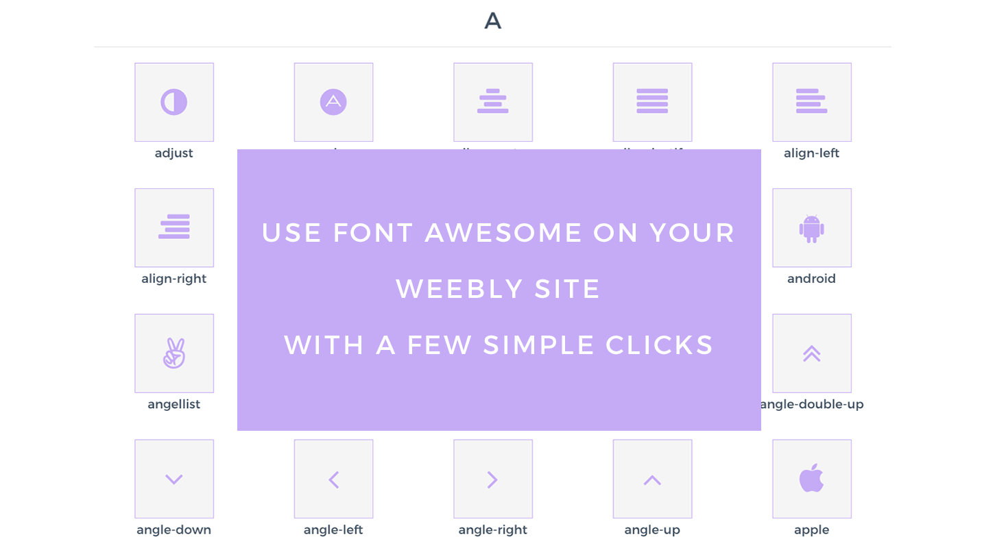 Wawesome - Font Awesome icons for Weebly