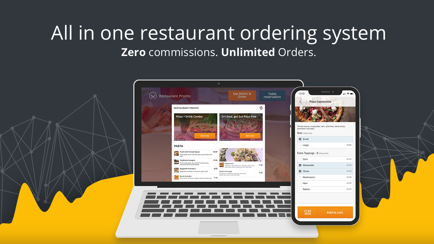 Restaurant System Food Ordering And Table Reservations - Restaurant table ordering system