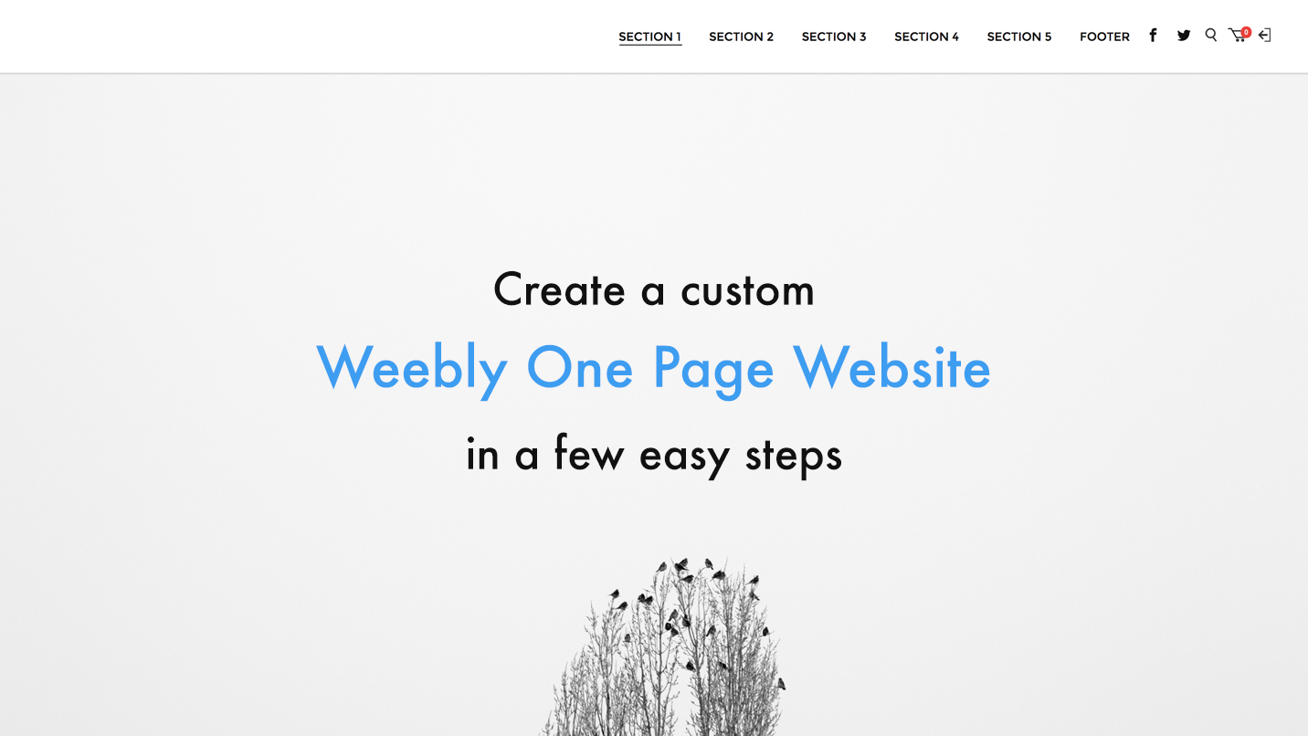 1 Pager - Making One Page Weebly Site