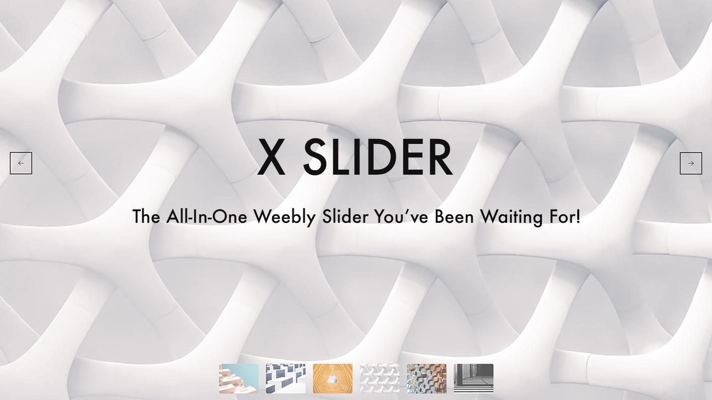X Slider - #1 Slider App for Weebly