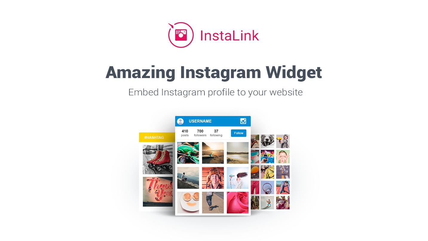 InstaLink - Embed Instagram widget to Weebly