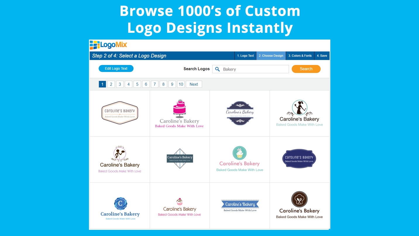 logo maker make a logo add to your site instantly