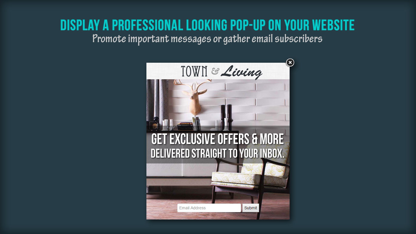 Pop-Up Window - Gather emails and promote messages