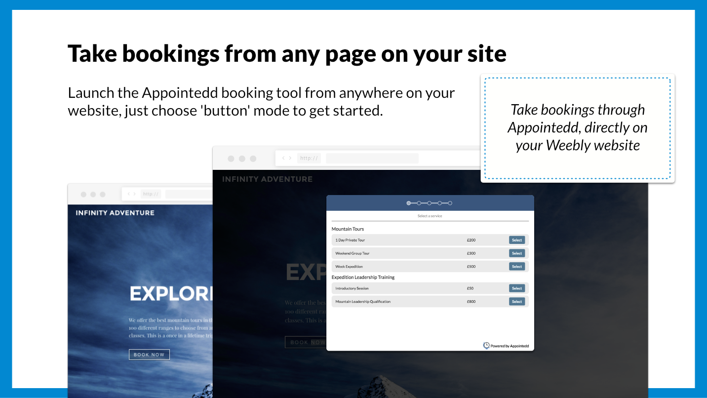 Appointedd - Ultimate online booking for Weebly sites
