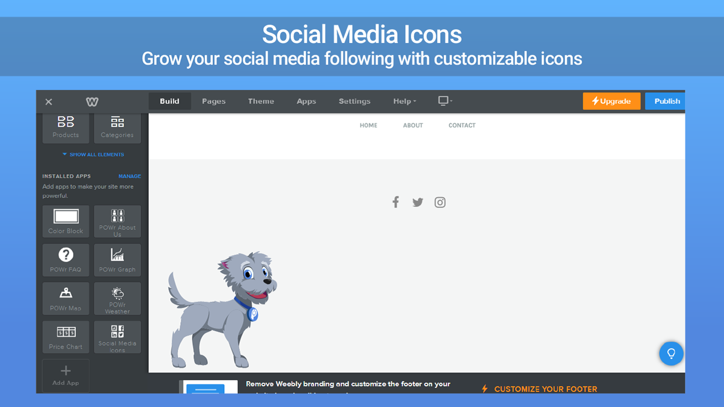 Social Media Icons - Get more followers with custom icons