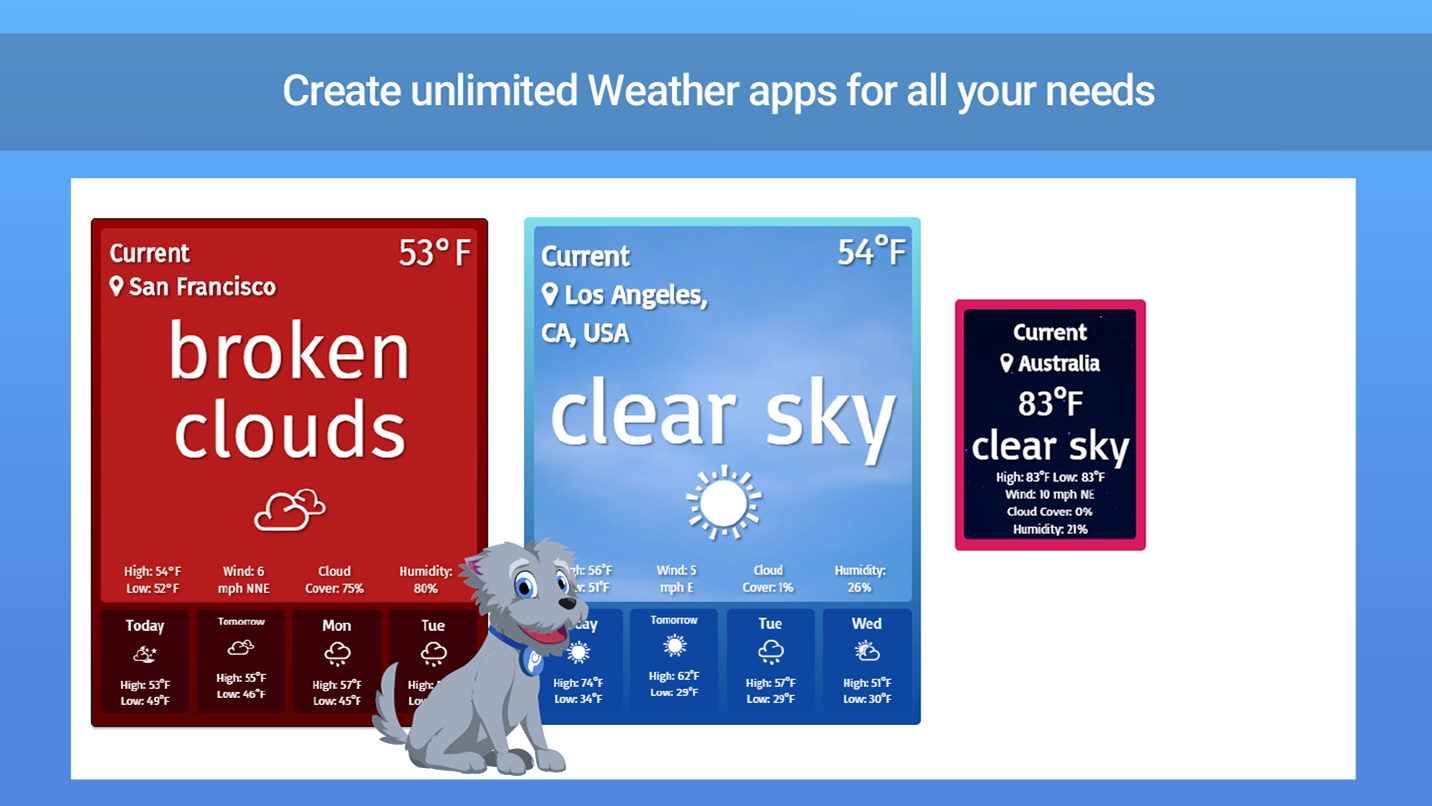 Weather - Custom Weather Forecast for Weebly
