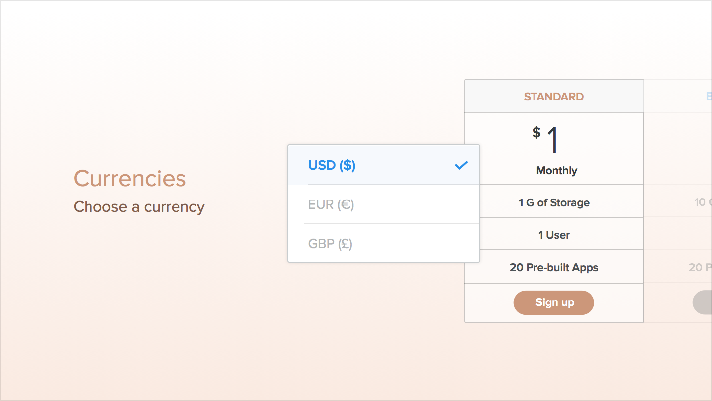 Price Chart - Build a Custom Pricing Table