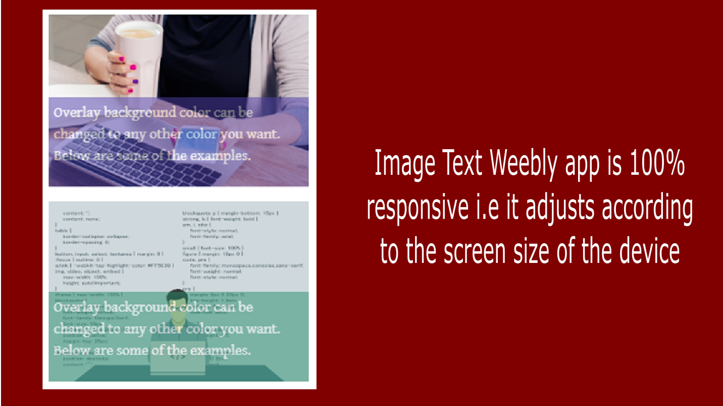 Image Text - Add images with transparent text