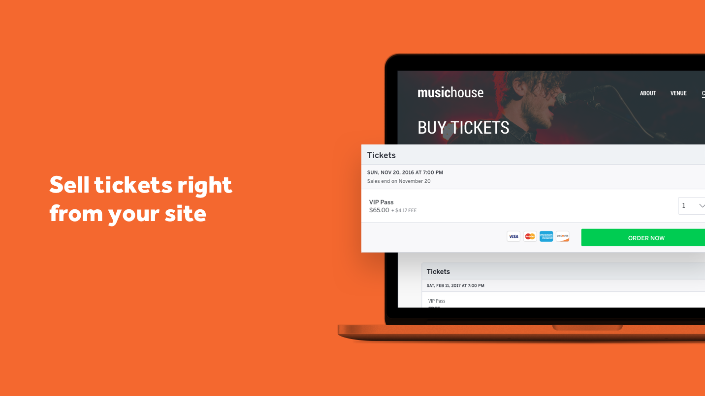 Eventbrite - Display upcoming events and sell tickets
