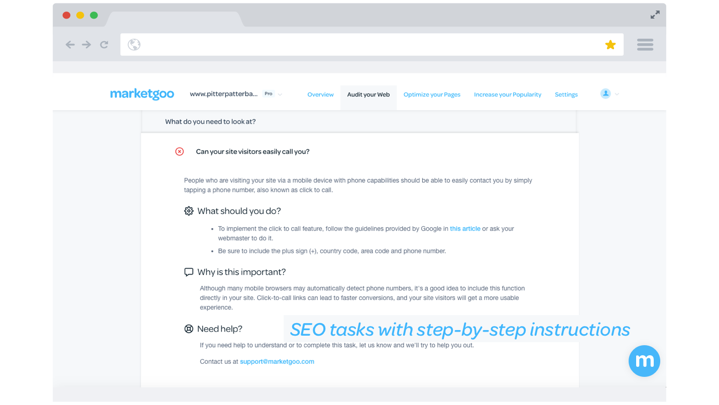 MarketGoo - The easiest SEO tool