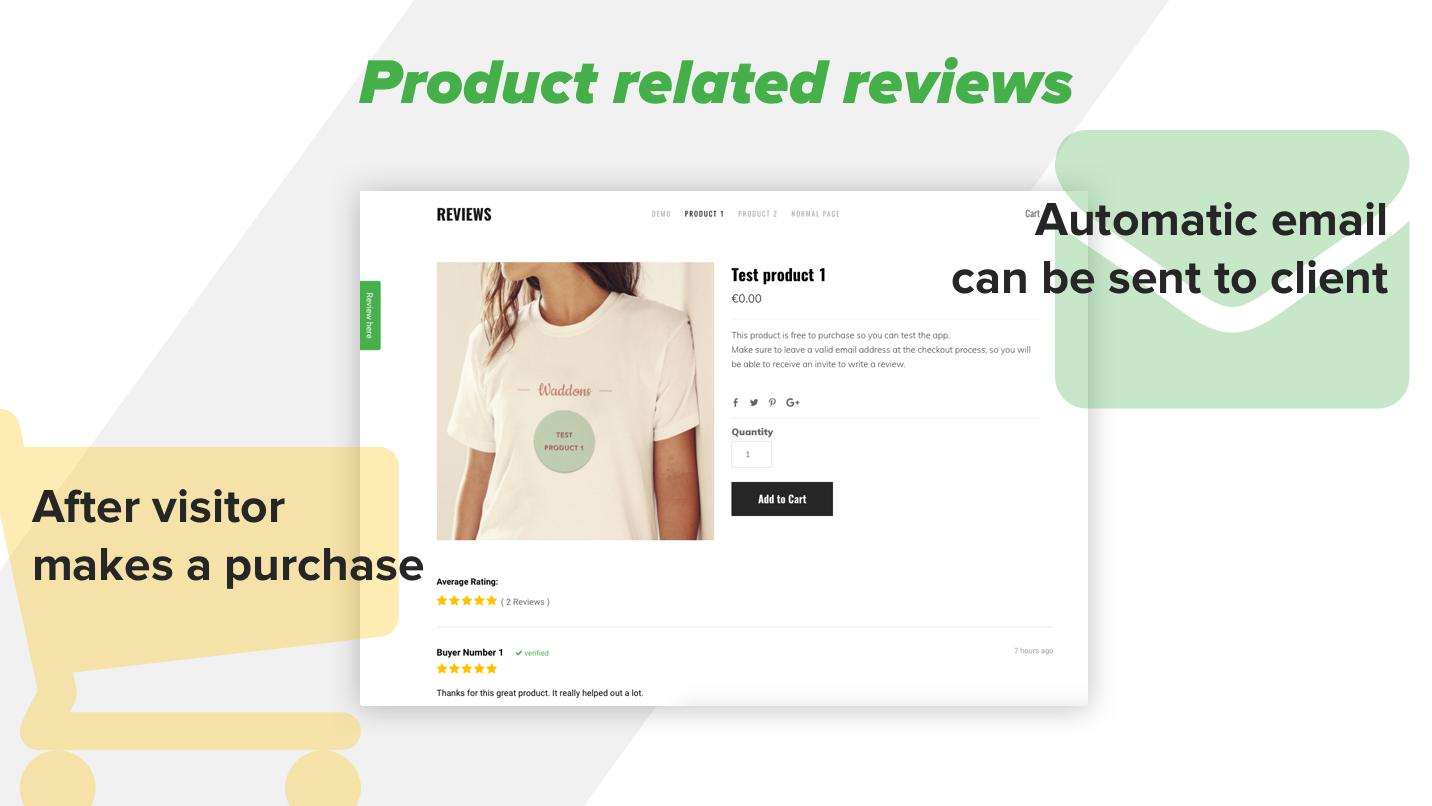Reviews - Collect customer reviews