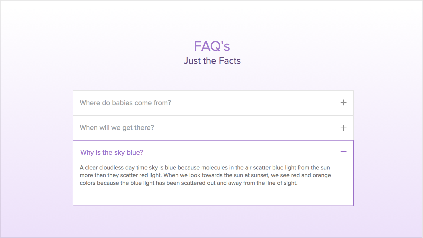 FAQ - Create a Dedicated FAQ Section or Page