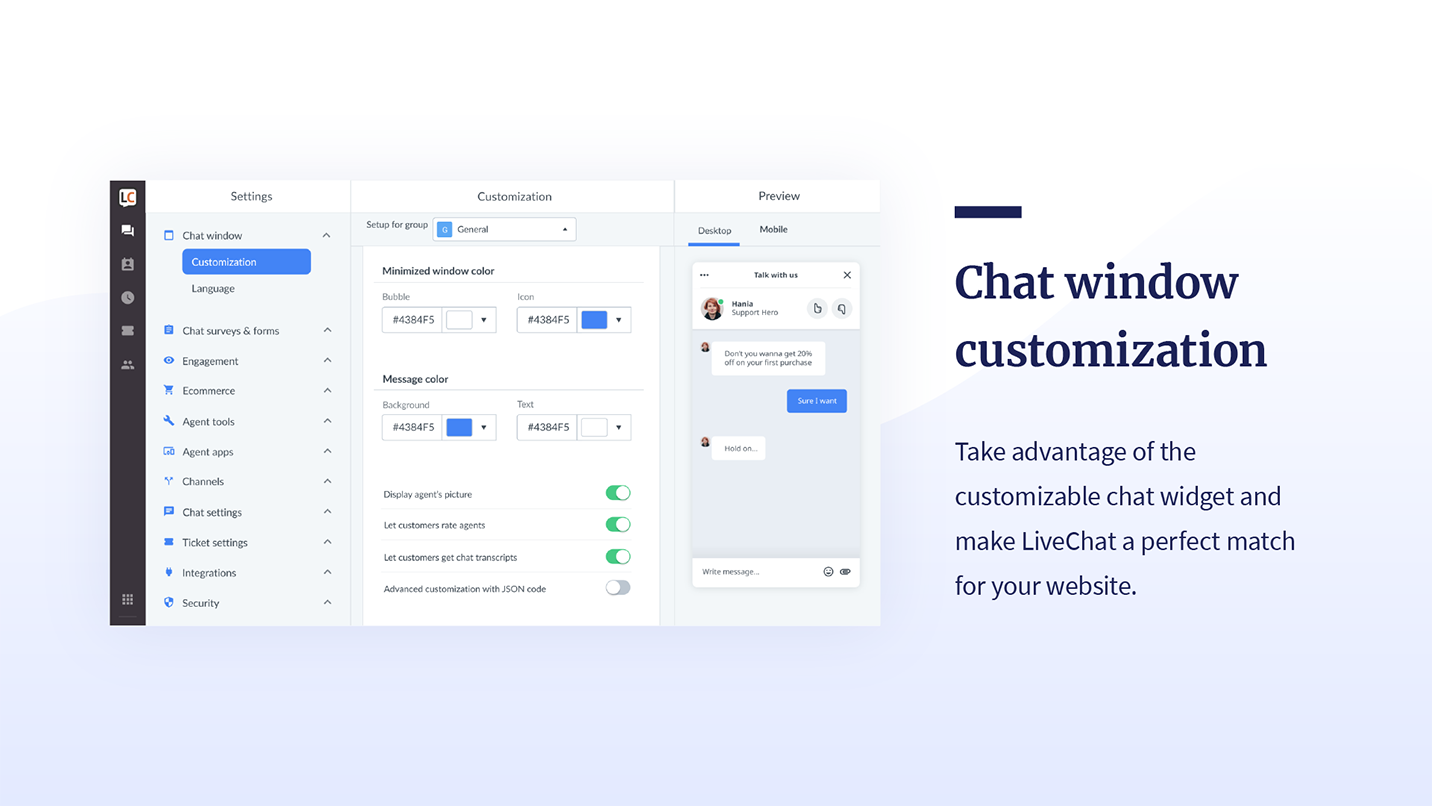 LiveChat Live Chat - Live chat for customer service and sales