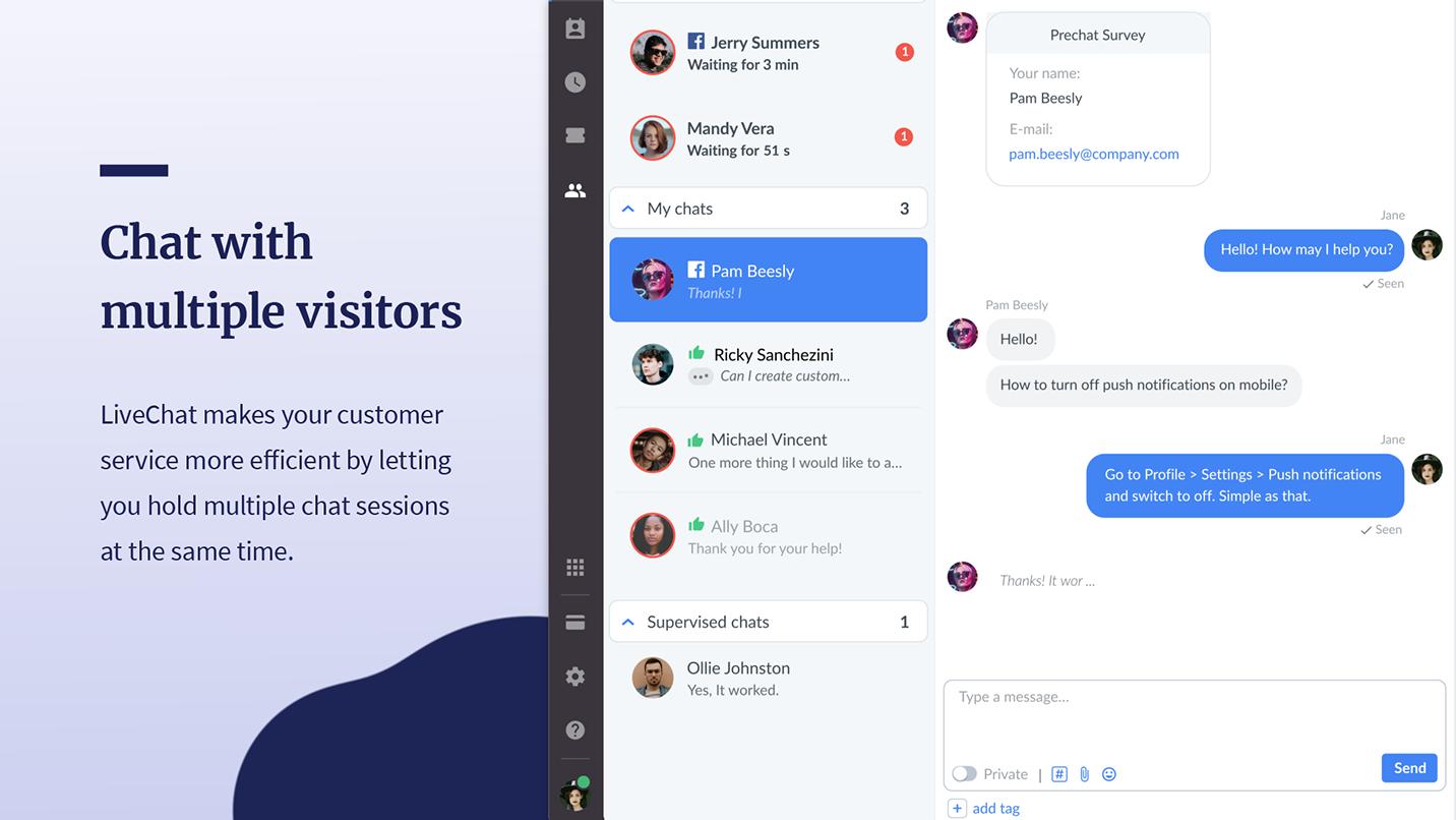 chatbot website platforms - livechat