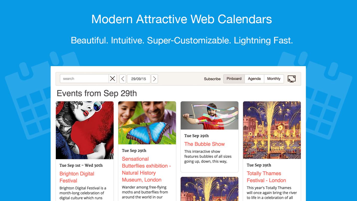 Tockify Calendar - The modern attractive website calendar